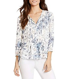 William Rast® Floral Peasant Top
