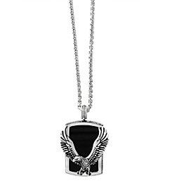 Effy® Men's 925 Sterling Silver Onyx Pendant