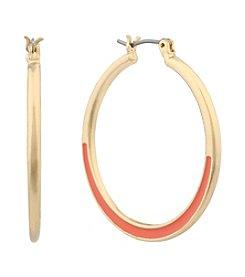 Gloria Vanderbilt® Medium Enamel Hoop Earrings