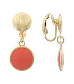 Gloria Vanderbilt® EZ Comfort Clip Drop Earrings