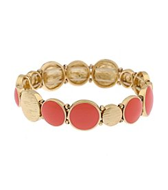 Gloria Vanderbilt® Coral Stretch Bracelet