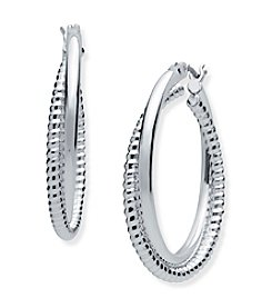 Nine West® Twisted Hoop Earrings