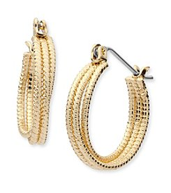 Nine West® Small Hoop Earrings