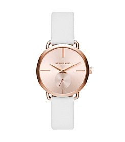 Michael Kors® Women's Portia Leather And Two Hand Sub Eye Watch