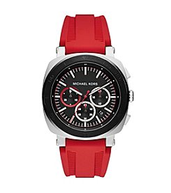 Michael Kors® Men's Stainless Steel And Silicone Chronograph Watch