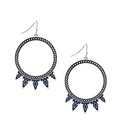 Jessica Simpson Circle With Spike Frontal Earrings