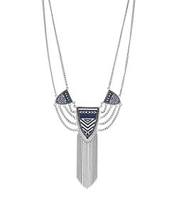 Jessica Simpson Drama Necklace With Chain Swag And Fringe
