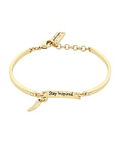 Jessica Simpson Stay Inspired Petite Name Plate Soft Bangle
