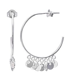 Willow Polished Hoop Earrings