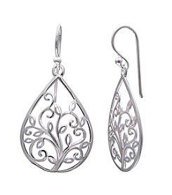 Willow Filigree Tree Drop Earrings