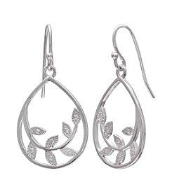 Willow Cubic Zirconia Vine Drop Earrings