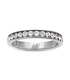 Willow Sterling Silver Cubic Zirconia Band