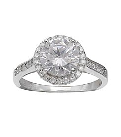 Willow Round Cubic Zirconia Ring