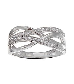Willow® Cubic Zircona Crossover Ring