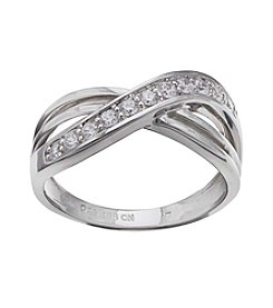 Willow Cubic Zirconia Crossover Ring