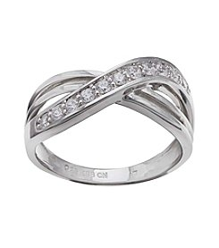 Willow® Sterling Silver Polished Double Crossover Ring