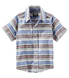 OshKosh B'Gosh® Boys' 2T-7 Horizontal Striped Butondown Shirt