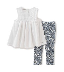 Calvin Klein Jeans Girls' 2T-6X 2-Piece Tunic And Leggings Set