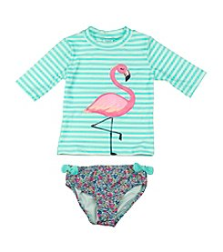 Carter's® Girls' 2T-6X Flamingo Rash Guard Set