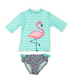 Carter's® Girls' 2T-6X Flamingo Rash Guard Set