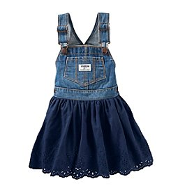 OshKosh B'Gosh® Baby Girls' Denim Jumper with Eyelet Skirt
