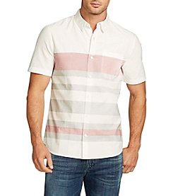 William Rast® Men's Short Sleeve Fulton Stripe Button Down Shirt