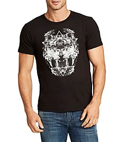 William Rast® Men's Short Sleeve Owl Lion Graphic Tee
