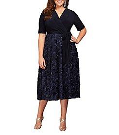 Alex Evenings® Plus Size Tea-Length Party Dress