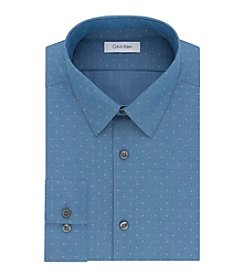Calvin Klein Men's Slim Fit Diamond Dobby Dress Shirt