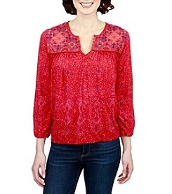 Lucky Brand® Embroidered Top