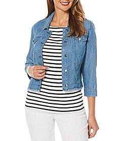 Rafaella® Cropped Jean Jacket