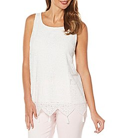 Rafaella® Lace Overlay Top