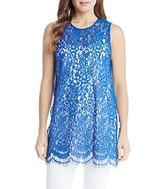 Karen Kane® High Slit Lace Tank