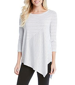 Karen Kane® Striped Angle Top