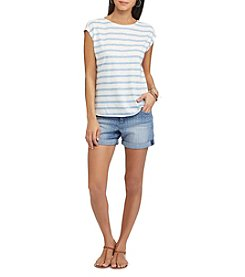 Chaps® Striped-Front Dolman Tee