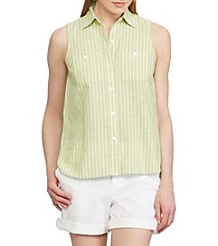 Chaps® Striped Linen-Cotton Shirt