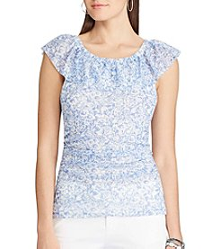 Chaps® Floral Off-The-Shoulder Top
