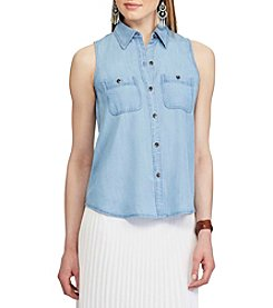 Chaps® Sleeveless Button-Up Shirt