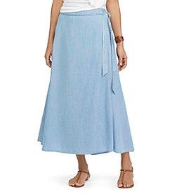 Chaps® Wrap Maxi skirt