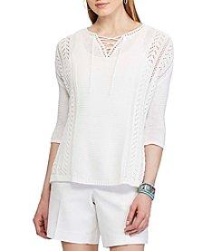 Chaps® Linen-Cotton Sweater