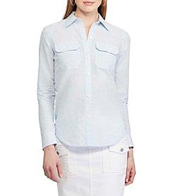 Chaps® Linen-Cotton Workshirt