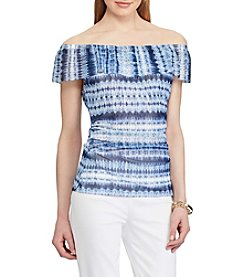 Chaps® Tie-Dye Off-The-Shoulder Top