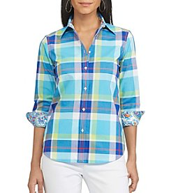 Chaps® Non-Iron Plaid Broadcloth Shirt