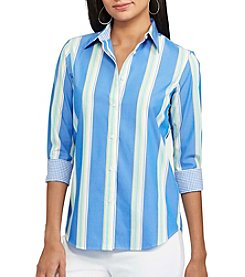 Chaps® Non-Iron Striped Broadcloth Shirt