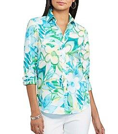Chaps® Non-Iron Floral Sateen Shirt