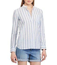 Chaps® Striped Linen-Cotton Shirt