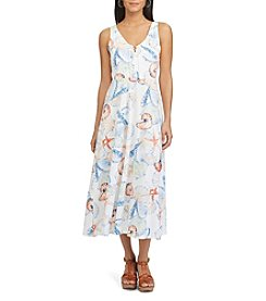 Chaps® Seashell-Print Jersey Dress