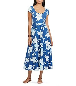 Chaps® Tropical-Print Jersey Dress