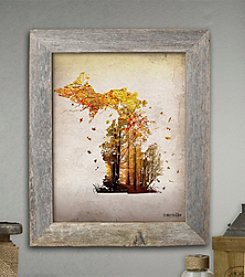 The Michigan Outfitter Fall Leaves Painting