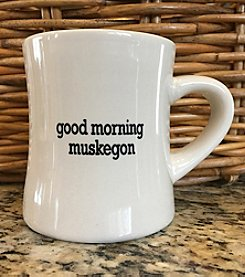 Detroit Scroll Good Morning Muskegon Mug